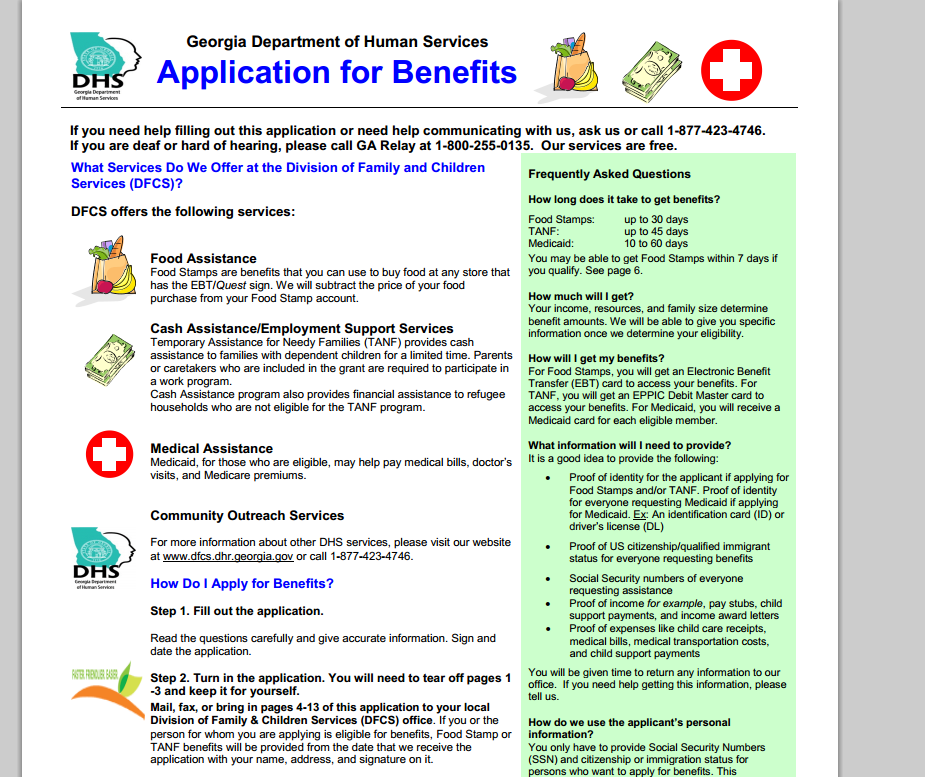Food Stamps Snap Application Online